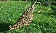 A chicken weaved from willow