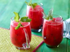 """Get Watermelon and Mint """"Agua Fresca"""" (Fresh Fruit-Blended Water) Recipe from Food Network"""