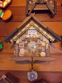 "Artesanato Opa's Haus: Relógio "" joão e maria"" do Opa's Haus - ""Hans und Gretel"""