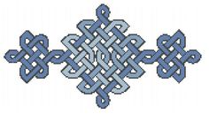 free celtic knotwork cross stitch pattern available at Craft Gossip cross stitch blog