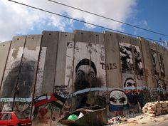 The wall around Bethlehem Israel Palestine, Apartheid, Holy Land, Banksy, Jerusalem, Mount Rushmore, Graffiti, Bethlehem, Wall Art