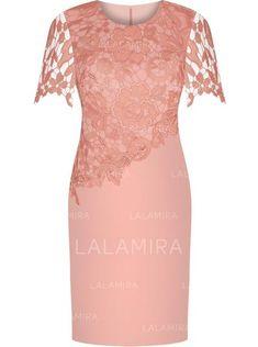 Sheath Column Satin Lace Short Sleeves Scoop Neck Knee-Length Zipper Up  Mother of the Bride Dresses (008146316) 7c0297d0521