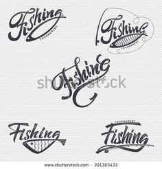 Fishing badges sign handmade differences, made using calligraphy and lettering It can be used as insignia badge logo design Fishing Signs, Fishing Quotes, Small Icons, Linoleum Block Printing, Fishing Tournaments, Silhouette Clip Art, Gone Fishing, Carp Fishing, Badge Logo