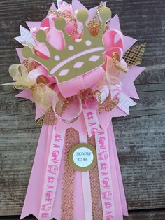 Check out this item in my Etsy shop https://www.etsy.com/listing/238373548/princess-mum-pink-and-gold-baby-shower