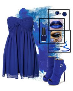 """""""Got The Blues"""" by janemorguedoe ❤ liked on Polyvore featuring NLY Trend, OPI, Bling Jewelry, Givenchy, Maybelline and JustFab"""