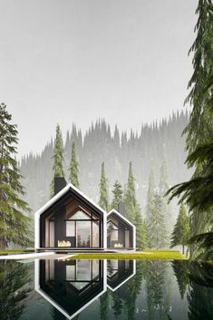 house architecture design Russian Architect Merges Nature and Architecture Designing Modern House Idyll Modern Architecture House, Modern House Design, Interior Architecture, Landscape Architecture, Interior Modern, Architecture Apps, Architecture Definition, Architecture Geometric, Computer Architecture