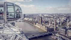 The London Eye provides spectacular views over the city. See them for youself on a trip to London. All Inclusive Vacation Packages, Vacation Deals, London Eye, London Tips, Monuments, Great Places, Places To See, Amazing Places, Places Around The World