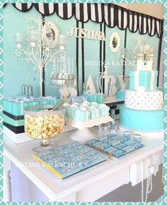 Tiffany's baby shower party! See more party planning ideas at CatchMyParty.com!