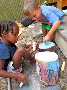 Mark making outdoors :-) https://www.facebook.com/tpcns