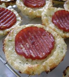 FOOD./Cauliflower Pizza Bites. Each bite is only ~8 calories, ~0.5 carbs, ~1.25 protein. AND they are delicious! - MikeLike