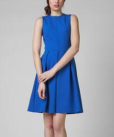KORTAS Blue Estela Dress   zulily