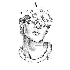 So Cool Tattoo Ideas 2019 Zeichnungen iDeen ✏️ Cool Art Drawings, Pencil Art Drawings, Art Drawings Sketches, Tattoo Sketches, Easy Drawings, Tattoo Drawings, Drawing Art, Tattoo Pics, Drawing Faces