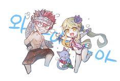 Summer Chibi Natsu, Lucy & Happy Fairy Tail Natsu And Lucy, Fairy Tail Lucy, Fairy Tail Nalu, Fairy Tail Ships, Chibi Natsu, Zeref Dragneel, Gruvia, Fairy Tail Happy, Natsu Y Lucy