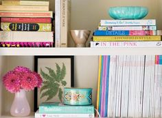 pretty bookshelf from @Debbie Arruda Brookshire Goodner Bones Great Pieces