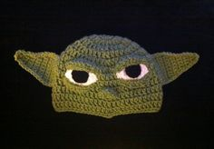 THE YODA Stars Wars Crochet Hat Beanie by KariesCrochetDesigns, $19.99