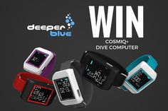 Deeper Blue - Win a Cosmiq+ Smart Dive Computer Winners) Computer Reviews, Free Sweepstakes, Diving Board, Win Cash Prizes, Best Scuba Diving, Apple Watch, Competition, Giveaways, Egg Hunt