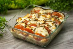 Eggplant casserole, vegetarian, low carb and delicious - Kochen - Healthy Grilling Recipes, Pureed Food Recipes, Pasta Salad Recipes, Diet Recipes, Vegetarian Recipes, Vegetarian Casserole, Law Carb, A Food, Food And Drink