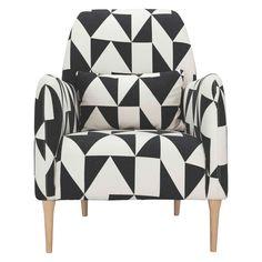 DABORN Black and white geometric fabric