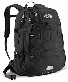 The North Face Backpack, Borealis  All black like this please and thanks for school?