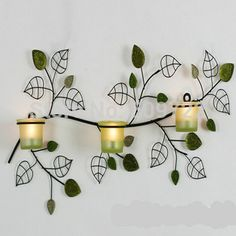 New 52cm European Metal Wedding Home Decoration Wall Artificial Leaf Pillar Candle Holder Stand no Candle Black FL5044