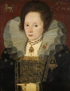 1598 Unknown painter - Unknown lady (Talbot Family):