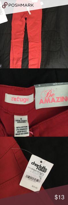 Refuge Skin Tight Legging Jeans Red Super Skinny Jeans from Charolette Russe refuge Jeans Skinny