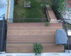 I'm sure this is a nice deck but, how do you have a deck over a basement space that doesn't look bad?... ex. long stairs down, detached feeling from the back yard? (Ipe deck). http://www.panix.com/~brooklyn/photos2.html#