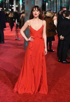 Dakota Johnson in Dior. Photo: Ian Gavan/Getty Images.