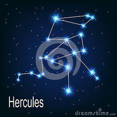 L étoile de Hercule de constellation pendant la nuit