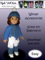 #Knitting #accessories and #hat patterns for #AG Dolls!
