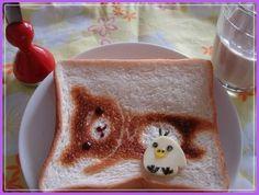make-your-own-toast-art.     Little Chick open sandwich. #BlueRibbonBread