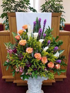 Funeral Floral Arrangements, Easter Flower Arrangements, Tropical Floral Arrangements, Creative Flower Arrangements, Flower Arrangement Designs, Artificial Floral Arrangements, Beautiful Flower Arrangements, Flower Centerpieces, Altar Flowers