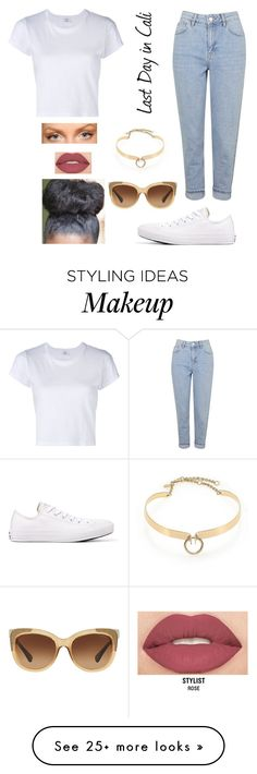 """+"" by jayladowdell on Polyvore featuring Topshop, Alexis Bittar, RE/DONE, Converse, Smashbox and Coach"