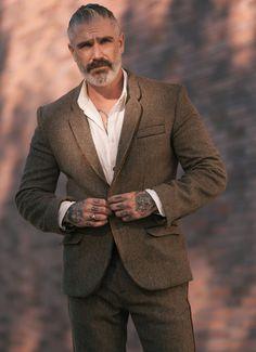 Fairfax Tweed Leather Piped Blazer