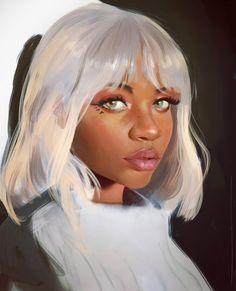 Portrait Study, Daniel Orive on ArtStation at https://www.artstation.com/artwork/AxKYq