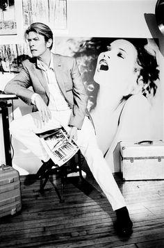 David Bowie & Kate Moss - Ellen von Unwerth Photoshoot_10