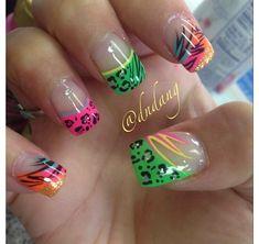 Bright colorful nails!