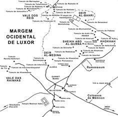 Mapa dos Monumentos de Luxor