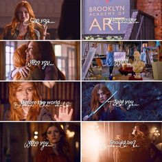 Mortal Instruments Runes, Immortal Instruments, Shadowhunters The Mortal Instruments, Clary And Jace, Clary Fray, Shadow Hunters Tv Show, Shadowhunter Quotes, Freeform Tv Shows, Fandom Memes