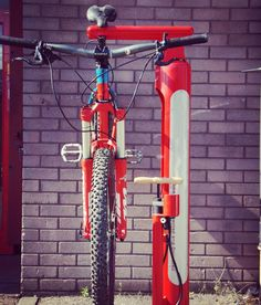 Bike repair station and public pump