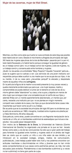 Mujer de las cavernas, mujer de Wall Street. Sigue leyendo aquí: http://elblogdegemahernandez.blogspot.com.es/2013/03/mujer-de-las-cavernas-mujer-de-wall.html