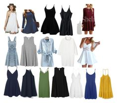 """""""Dresses"""" by arts22 ❤ liked on Polyvore featuring RVCA, MANGO, Topshop, Queen Bee, Glamorous, WithChic, Monki and WearAll"""