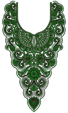 10006 Neck Embroidery Design