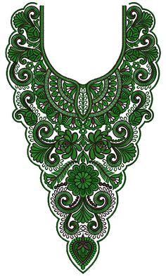 10006 Neck Embroidery Design