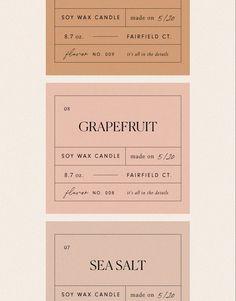 beautiful soft color pallette Tag Design, Mockup Design, Graphic Design Branding, Label Design, Layout Design, Graphic Designers, Feminine Packaging Design, Creative Typography Design, Typography Design Layout
