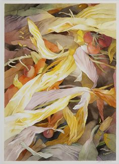 Jean Crane, Grafton  Wild Garden in Fall, 2012  Watercolor