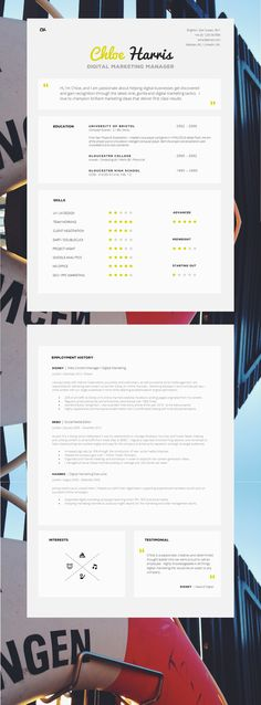 Look professional with an easy to use resume template Instant - eye catching resume templates