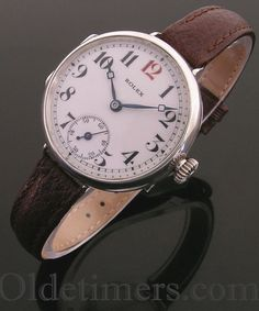 1916 silver round vintage Rolex 'Officers' watch (3232)