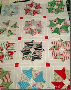 0713 Christmas Quilt Top Center