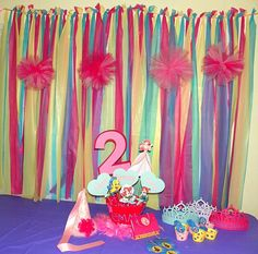 The Little Mermaid Birthday Party Package on Etsy, $6.00 I like the idea of the streamers, as a backdrop! Behind the cake table.